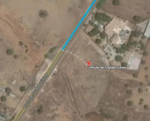 area di intervento lungo la route de toubab dialaw